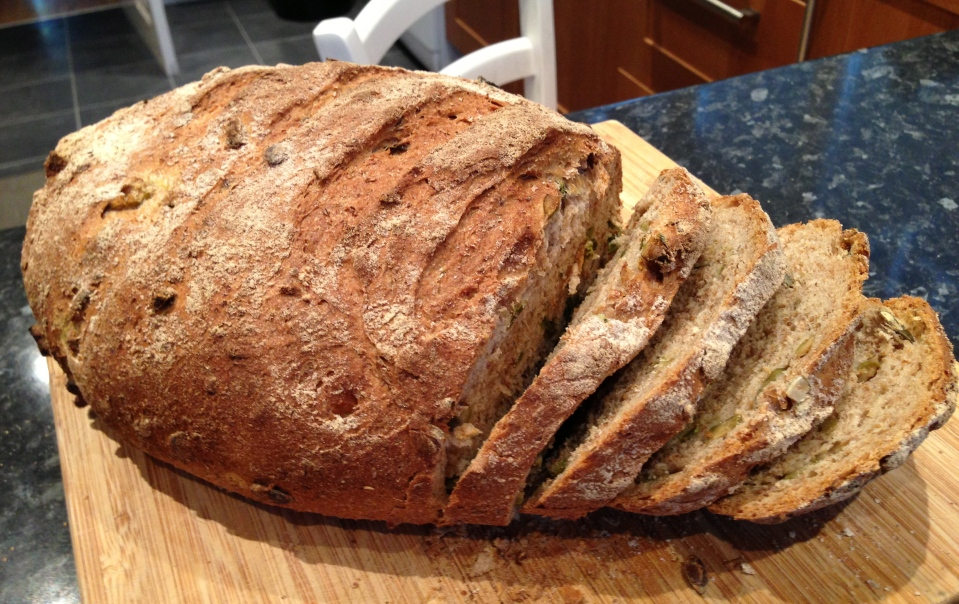 Jalapeno and olive bread