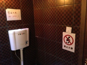 A loo, where you can't poo