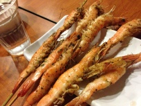 Barbeque prawns