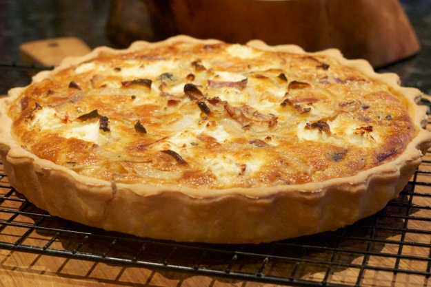 Onion and goats cheese tart